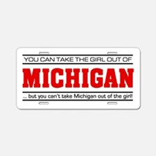 'Girl From Michigan' Aluminum License Plate