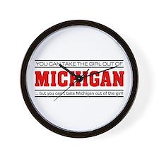 'Girl From Michigan' Wall Clock