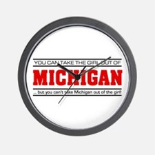 'Girl From Michigan' Wall Clock