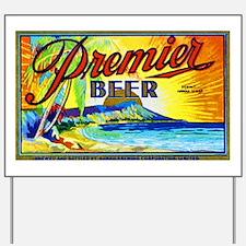 Hawaii Beer Label 3 Yard Sign