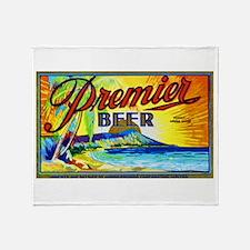 Hawaii Beer Label 3 Throw Blanket