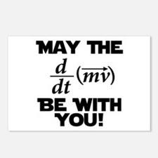 May The Force Be With You Physics Geek Nerd Postca