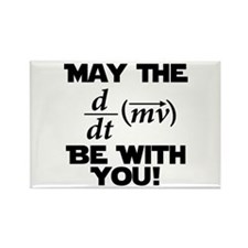 May The Force Be With You Physics Geek Nerd Rectan