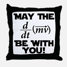 May The Force Be With You Physics Geek Nerd Throw