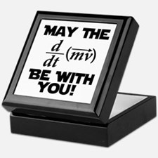 May The Force Be With You Physics Geek Nerd Keepsa