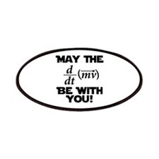 May The Force Be With You Physics Geek Nerd Patche