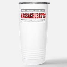 'Girl From Massachusetts' Travel Mug