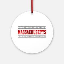 'Girl From Massachusetts' Ornament (Round)