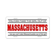 'Girl From Massachusetts' Aluminum License Plate