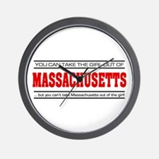 'Girl From Massachusetts' Wall Clock
