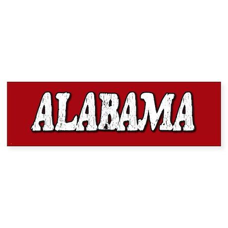 Alabama Vintage Bumper Sticker