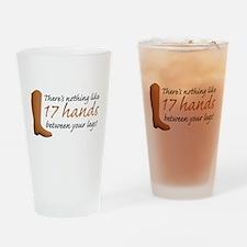 17 Hands Drinking Glass