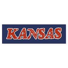 Kansas Vintage Bumper Bumper Sticker