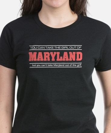 'Girl From Maryland' Women's Dark T-Shirt