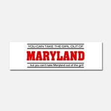 'Girl From Maryland' Car Magnet 10 x 3