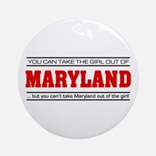 'Girl From Maryland' Ornament (Round)