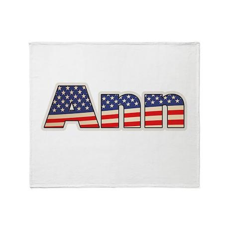 American Ann Throw Blanket