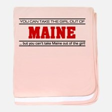 'Girl From Maine' baby blanket