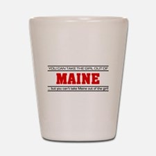 'Girl From Maine' Shot Glass