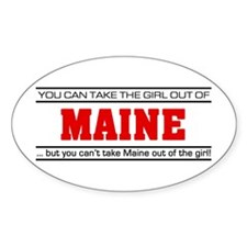 'Girl From Maine' Decal