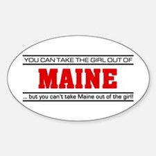 'Girl From Maine' Sticker (Oval)
