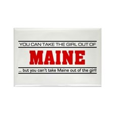 'Girl From Maine' Rectangle Magnet