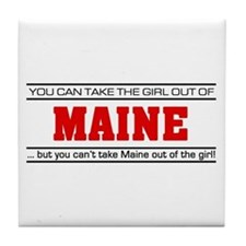 'Girl From Maine' Tile Coaster