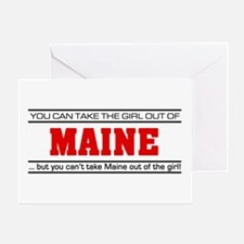 'Girl From Maine' Greeting Card