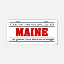 'Girl From Maine' Aluminum License Plate
