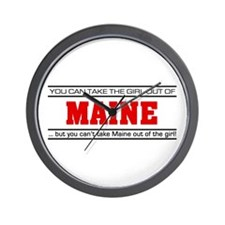 'Girl From Maine' Wall Clock