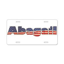 American Abagail Aluminum License Plate