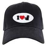 I Love (Heart) Pussy ... Cat Black Cap