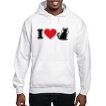 I Love (Heart) Pussy ... Cat Hooded Sweatshirt