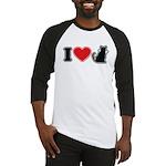 I Love (Heart) Pussy ... Cat Baseball Jersey