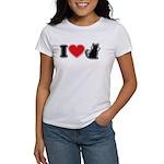 I Love (Heart) Pussy ... Cat Women's T-Shirt