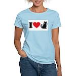 I Love (Heart) Pussy ... Cat Women's Pink T-Shirt