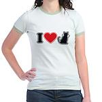 I Love (Heart) Pussy ... Cat Jr. Ringer T-Shirt