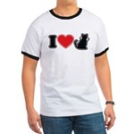I Love (Heart) Pussy ... Cat Ringer T