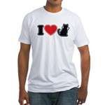 I Love (Heart) Pussy ... Cat Fitted T-Shirt
