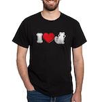 I Love (Heart) Pussy ... Cat Black T-Shirt