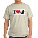 I Love (Heart) Pussy ... Cat Ash Grey T-Shirt