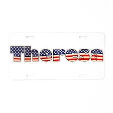 American Theresa Aluminum License Plate
