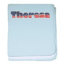 American Theresa baby blanket