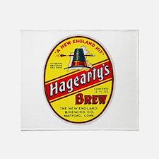 Connecticut Beer Label 3 Throw Blanket