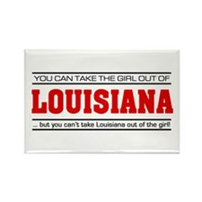 'Girl From Louisiana' Rectangle Magnet