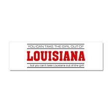 'Girl From Louisiana' Car Magnet 10 x 3