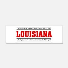 'Girl From Louisiana' Car Magnet 10 x 3