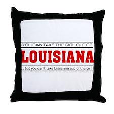 'Girl From Louisiana' Throw Pillow