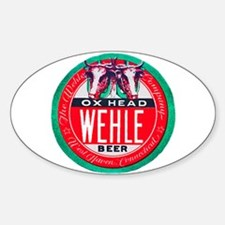 Connecticut Beer Label 1 Sticker (Oval)