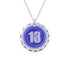 13th Birthday Boy Necklace Circle Charm